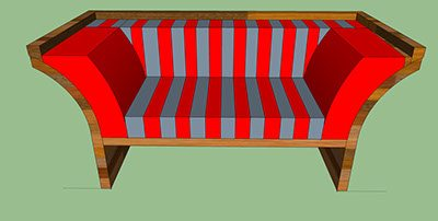 di out side couch base b red