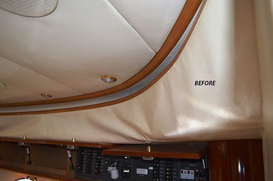 Before: Princess v52 sun lounge upholstery