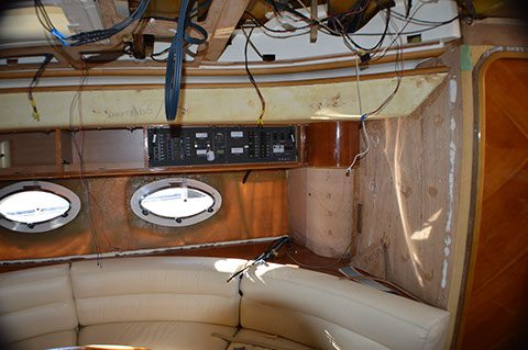 During: Princess v52 sun lounge upholstery