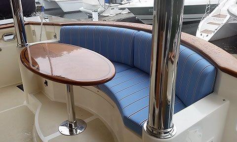 Cockpit marine upholstery