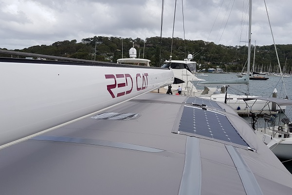 Custome made bimini for Oyster yacht