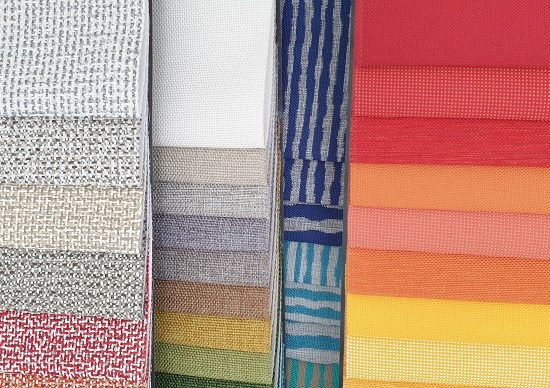 Marine upholstery fabrics