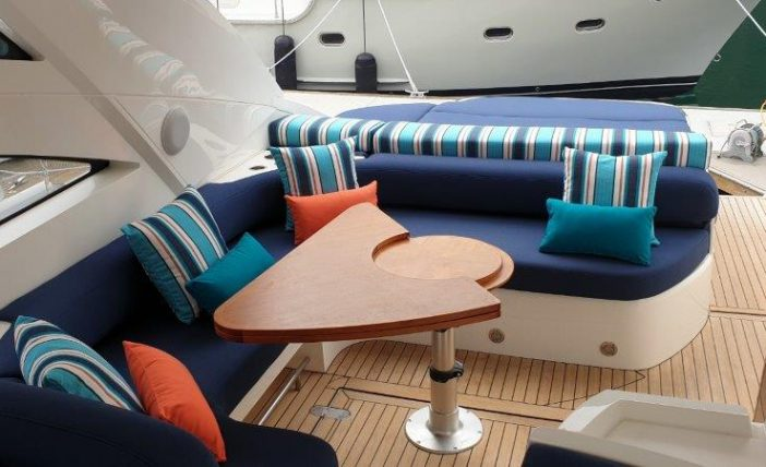Fairline Targa cockpit upholstery